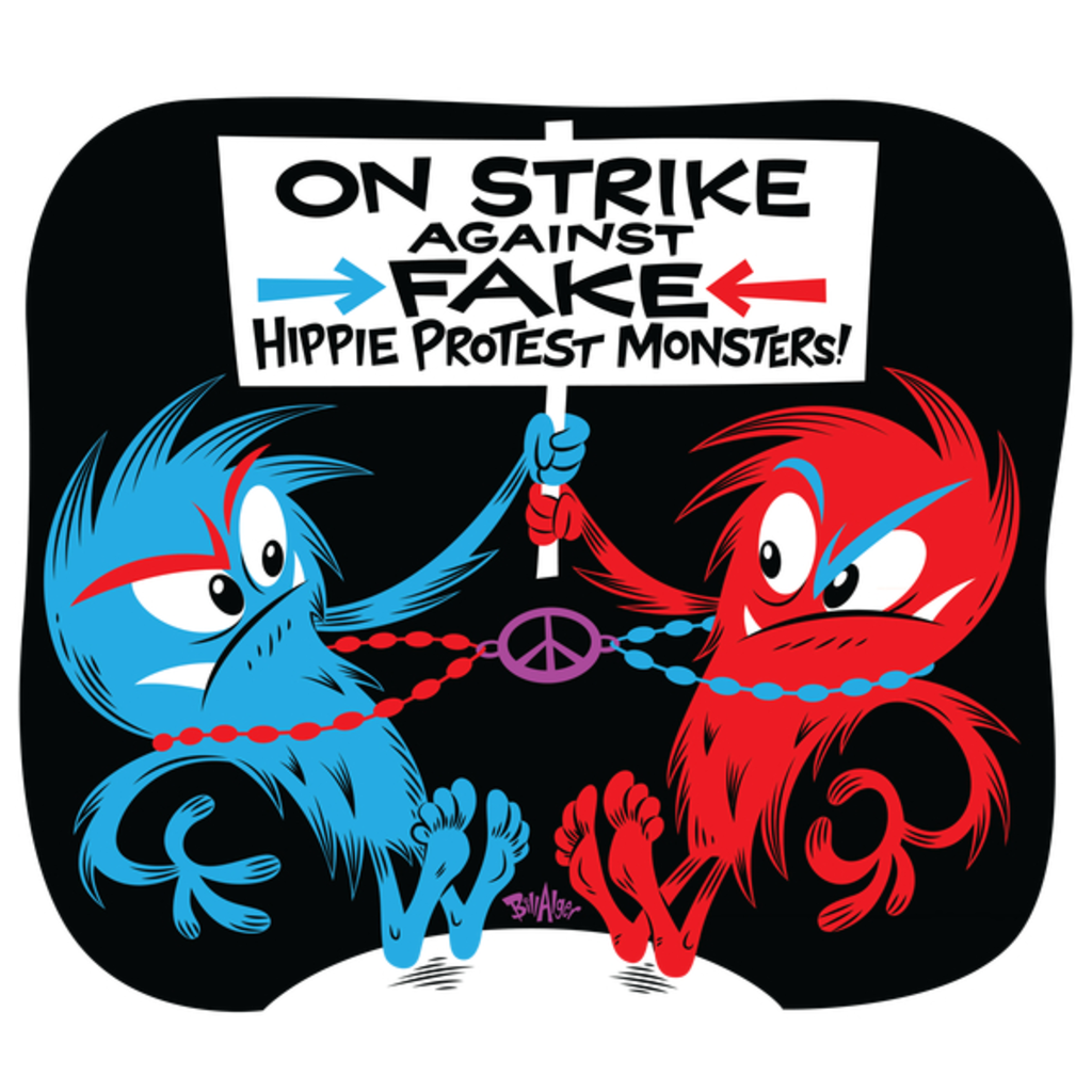 NeatoShop: On Strike Against Fake Hippie Protest Monsters!
