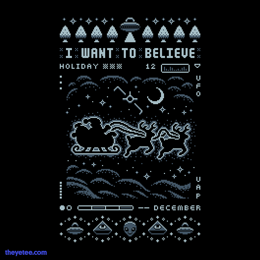 The Yetee: UFO HOLIDAY