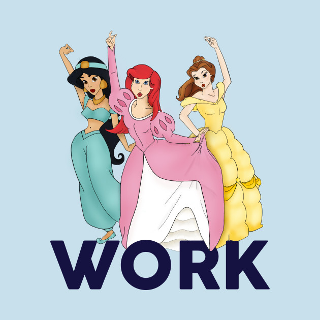 TeePublic: Work! Disney Sisters T-Shirt