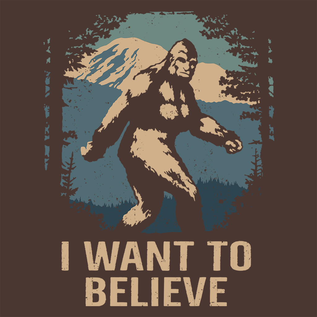 Pop-Up Tee: 1.1 Believe Bigfoot