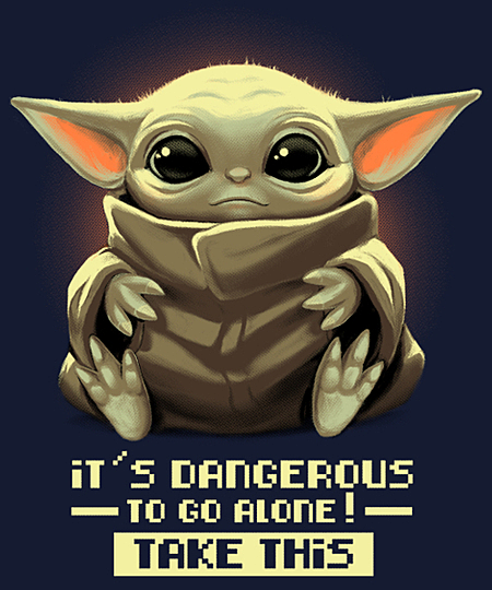 Qwertee: It's dangerous to go alone!