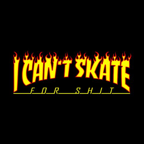 Five Finger Tees: I Can't Skate T-Shirt