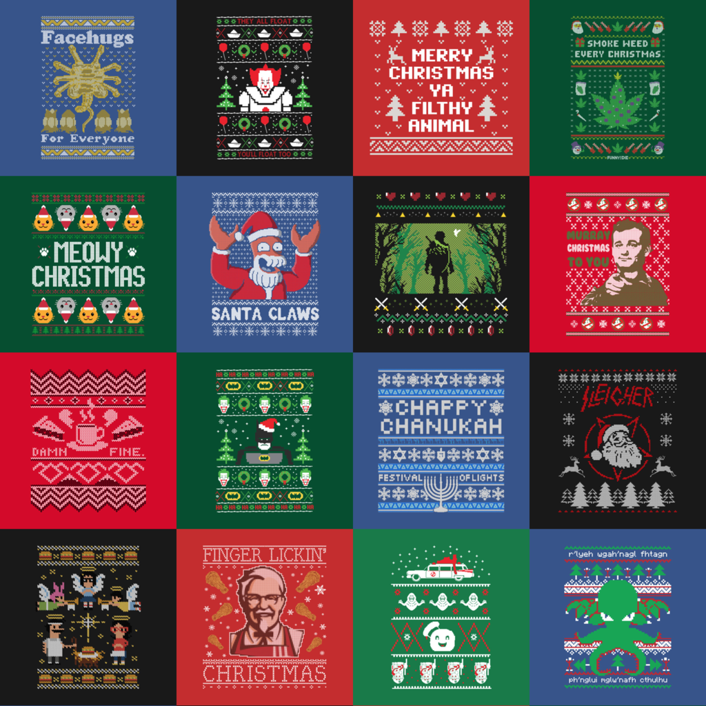 TeePublic: Ugly Sweaters Collection
