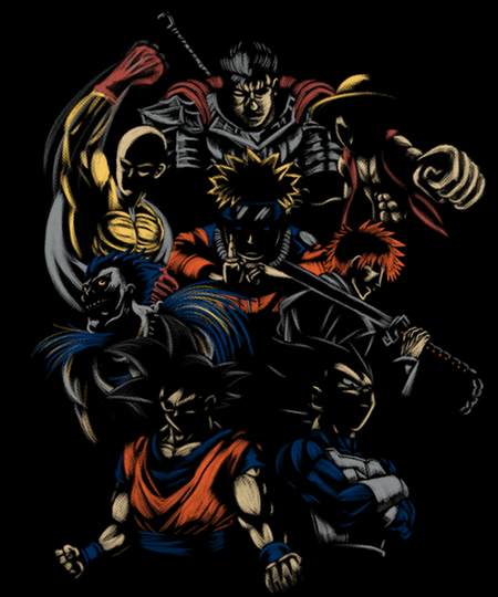 Qwertee: Anime Invincible Team