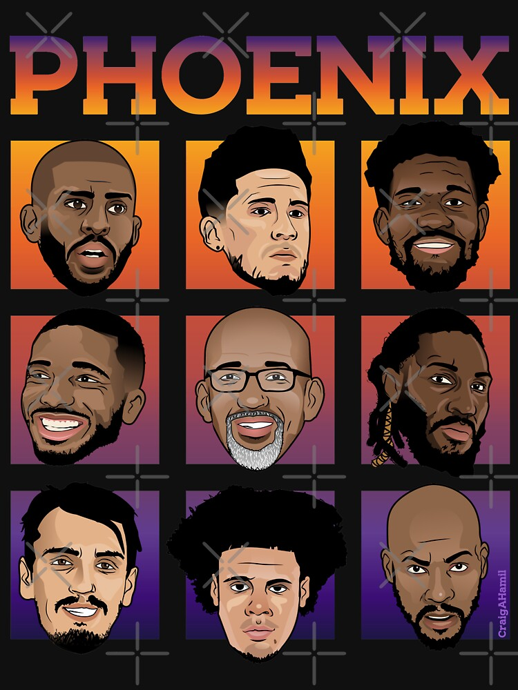 RedBubble: Phoenix Roster 20-21 Sunset edition.