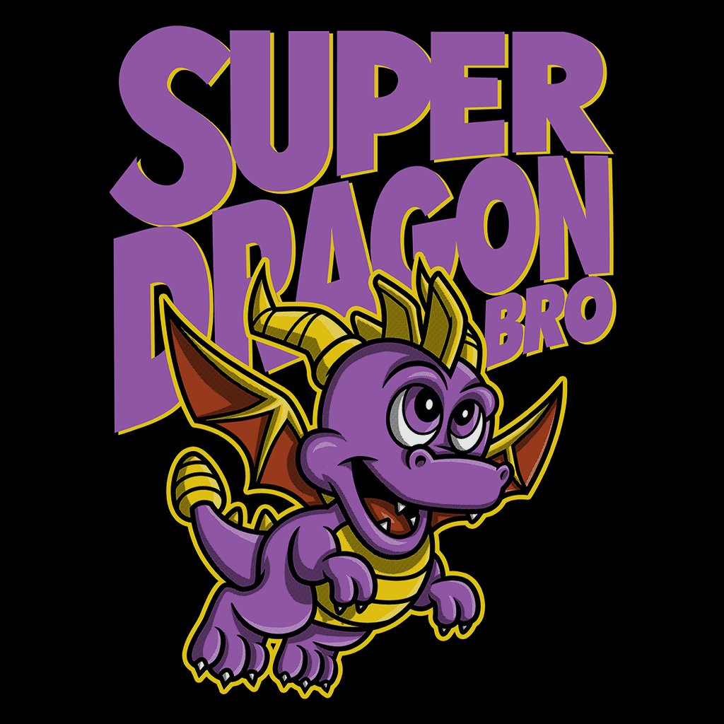 Pop-Up Tee: Super Dragon Bros