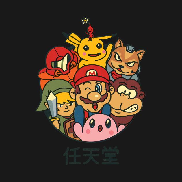 TeePublic: Retro gaming gang