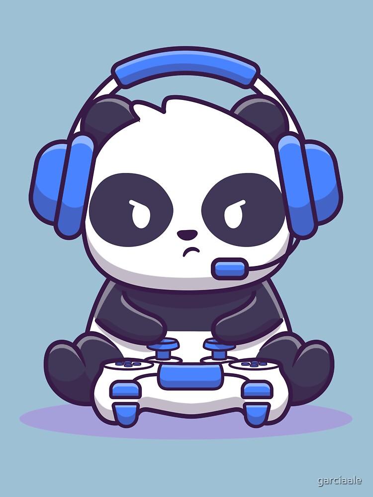 RedBubble: Panda video gamer