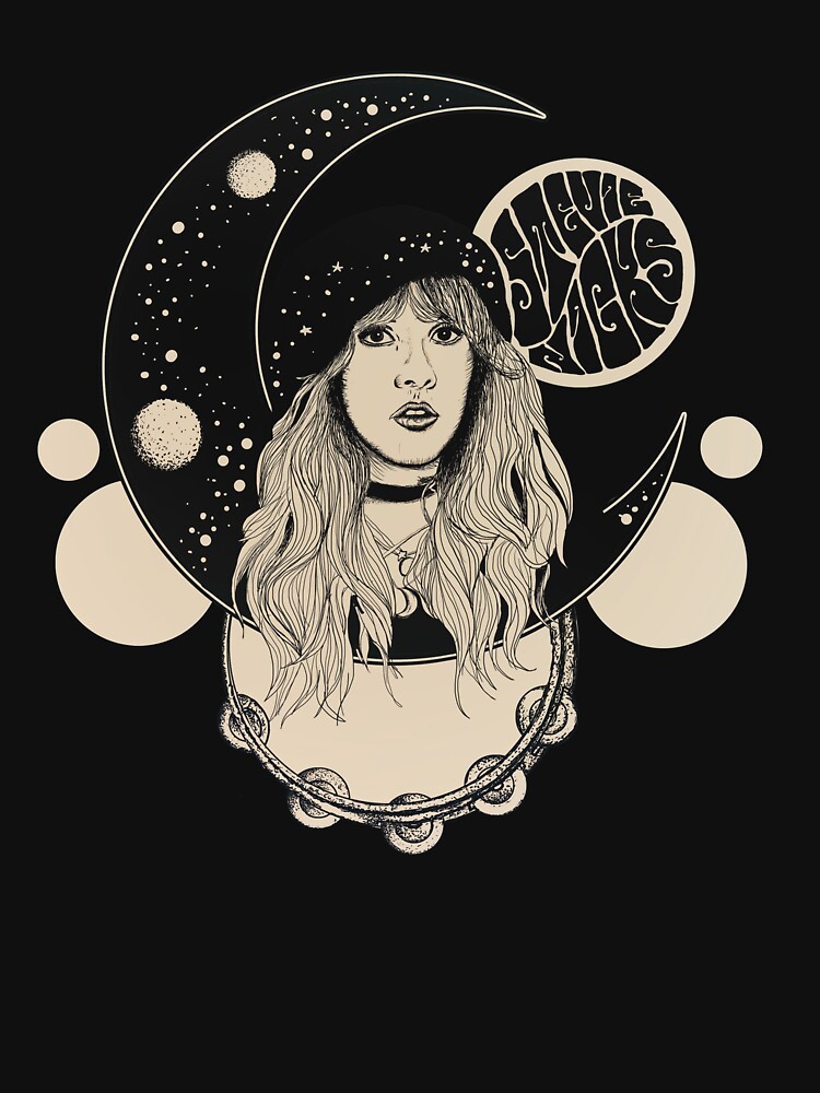 RedBubble: Stevie Nicks Inspired 70s Psychedelic Moon Print