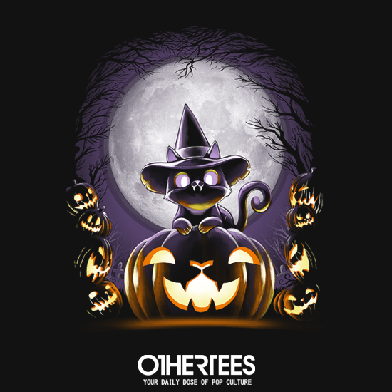 OtherTees: Witch-Cat Night