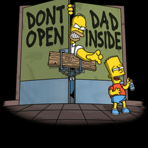 Qwertee: Don't open: dad inside