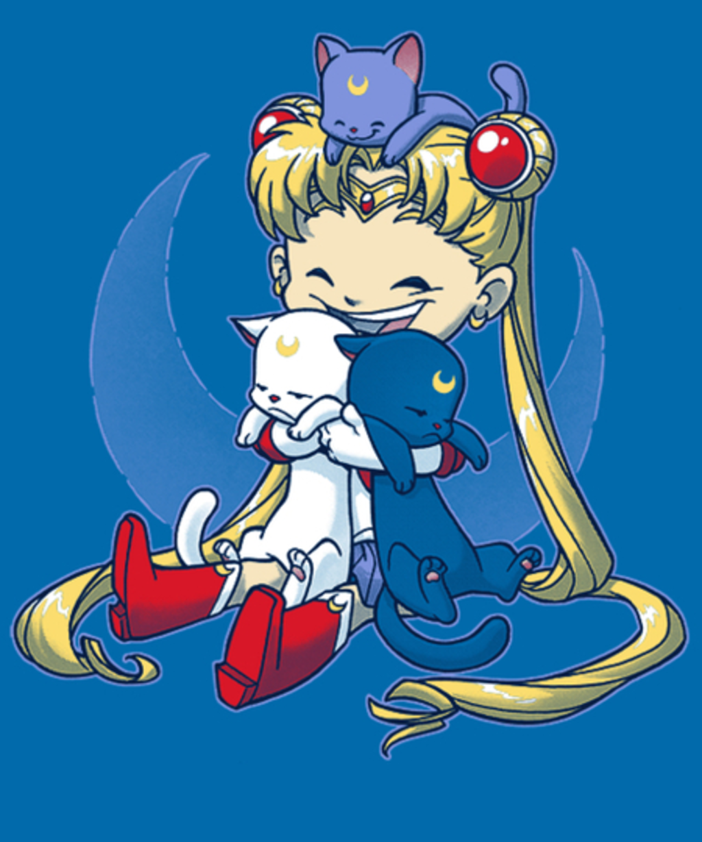Qwertee: Crazy Moon Cat Lady