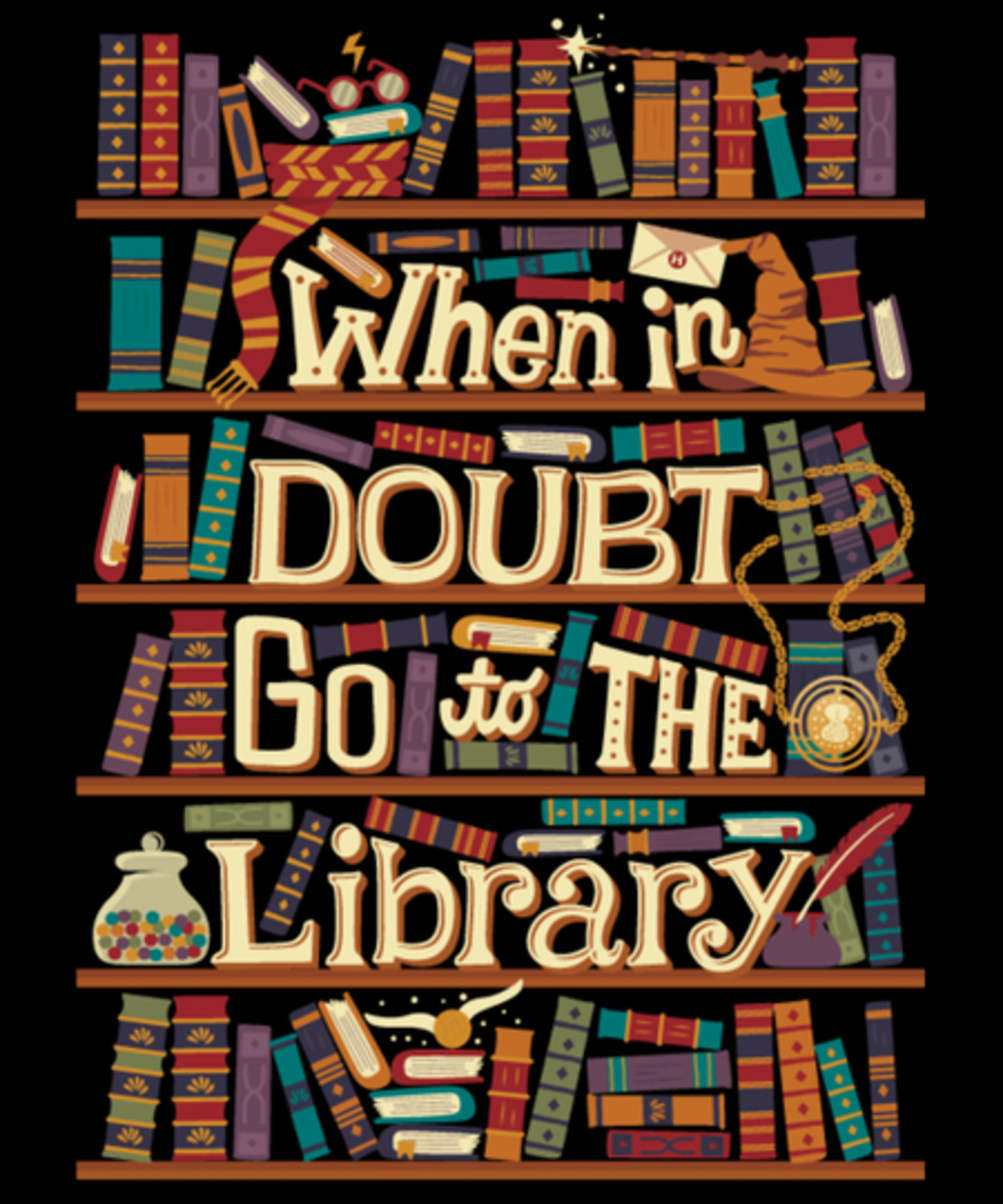 Qwertee: Go to the library