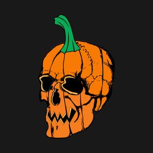 TeePublic: Pumpkin Skull Halloween