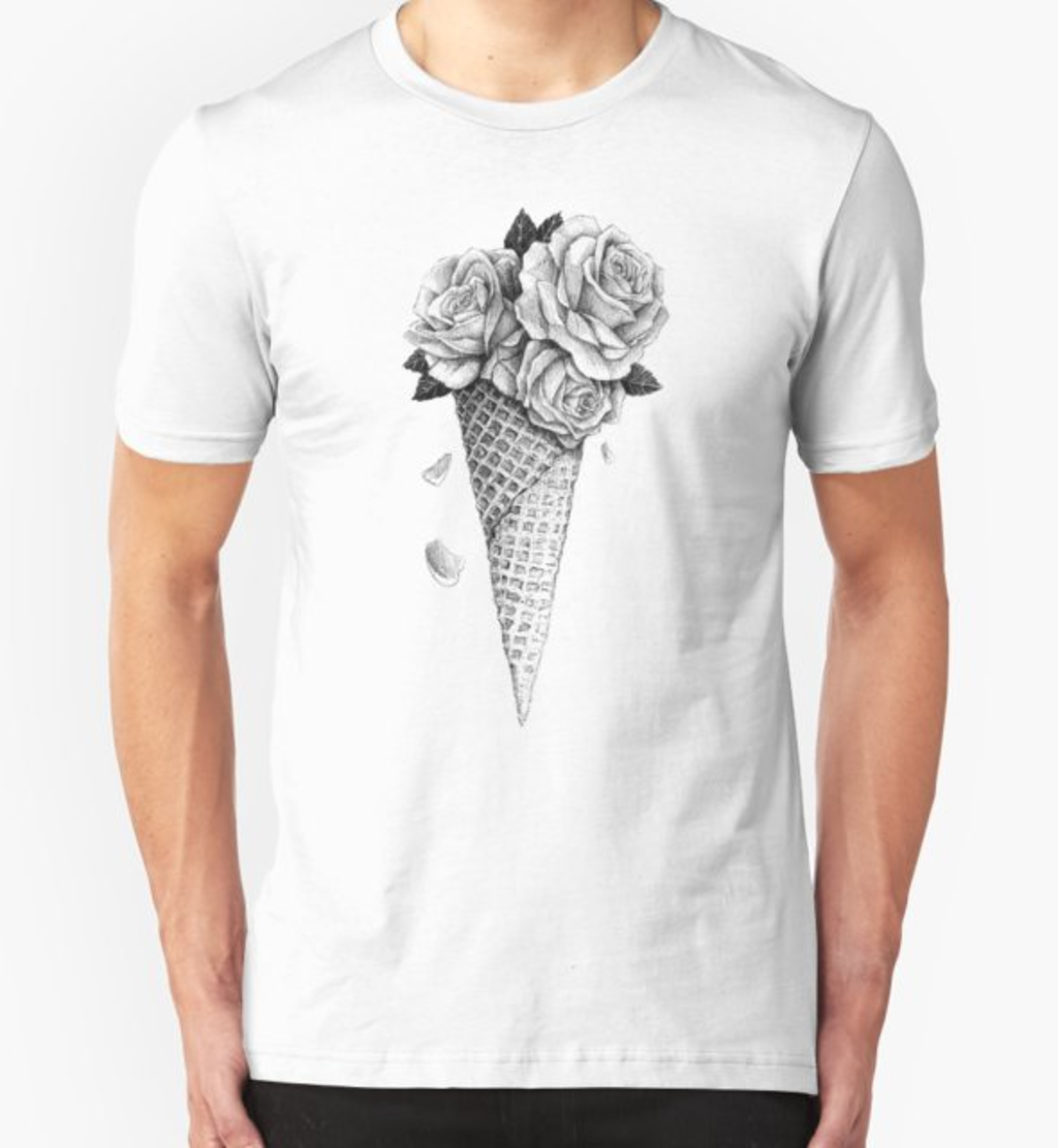 RedBubble: Ice Cream Roses