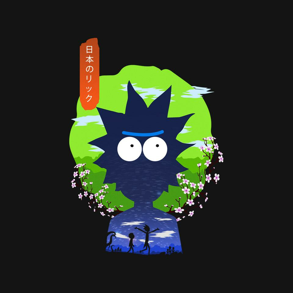 TeeFury: Rick In Japan