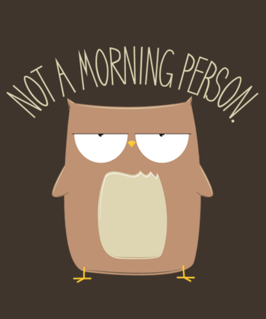 Qwertee: Not a Morning Person