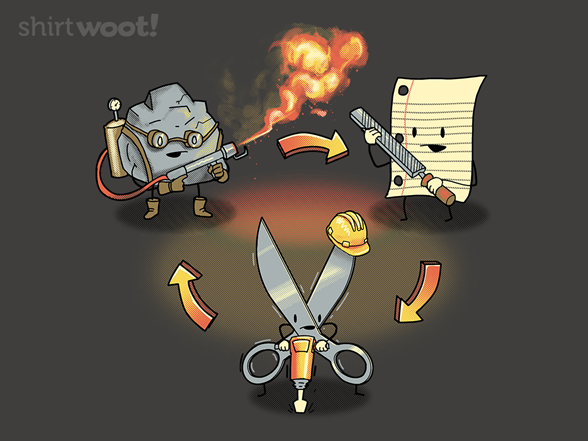 Woot!: Scissors, Paper, Rock