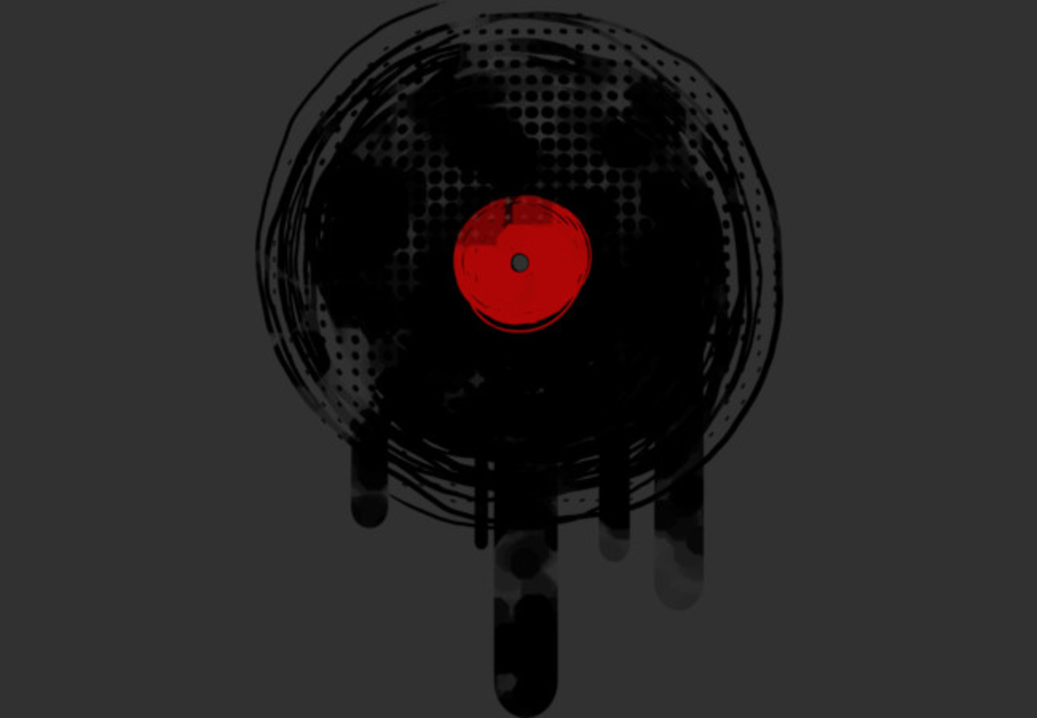 Design by Humans: Melting Vinyl Record Dj Retro Music Vintage D