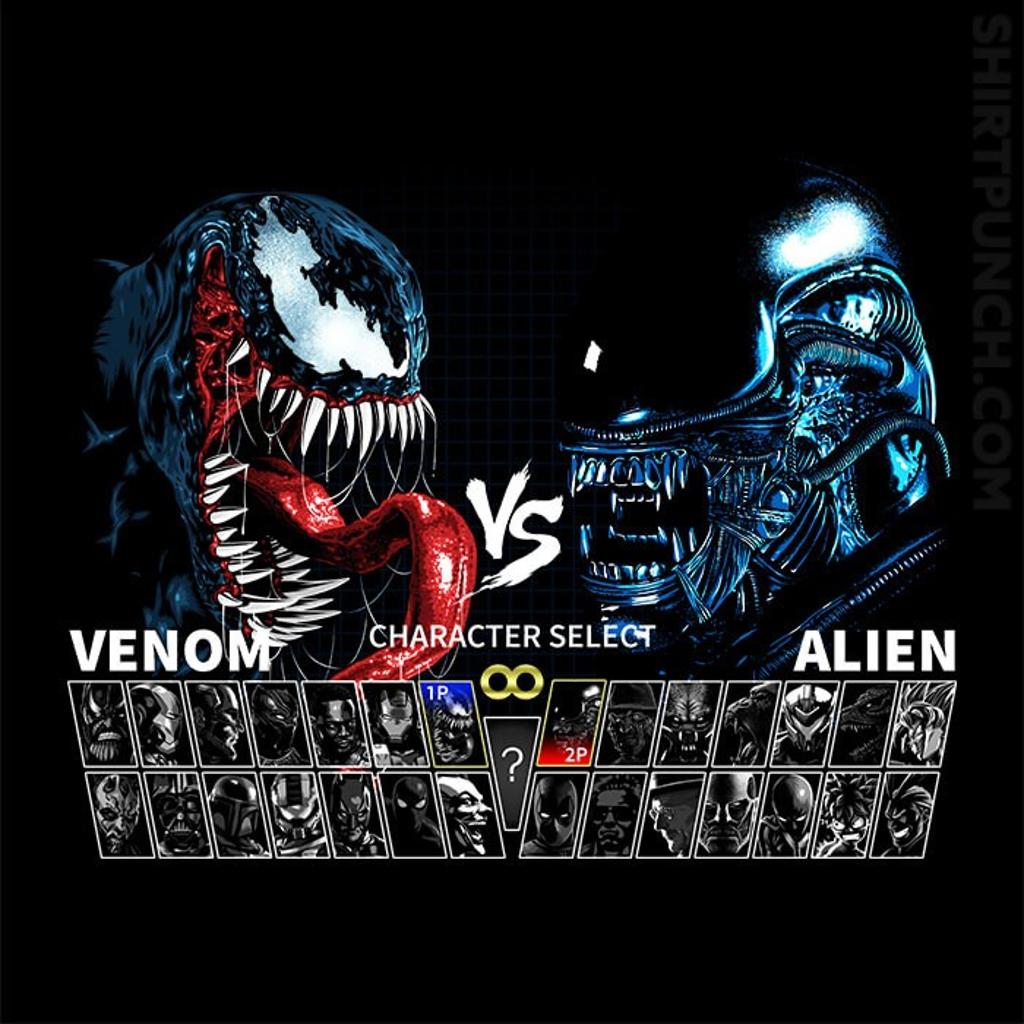 ShirtPunch: Select Venom VS Alien