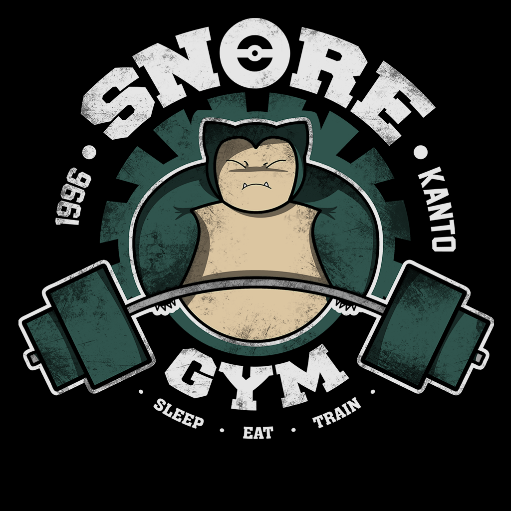Pop-Up Tee: Snore Gym