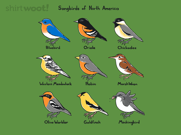 Woot!: Songbirds of North America Unisex Tank