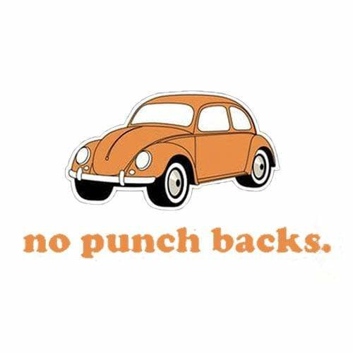BustedTees: No Punch Backs Mug