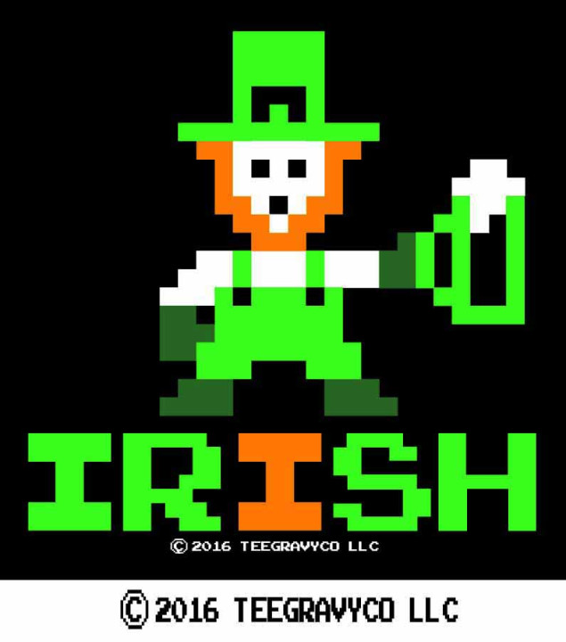 Tee Gravy: 8 BIT IRISH