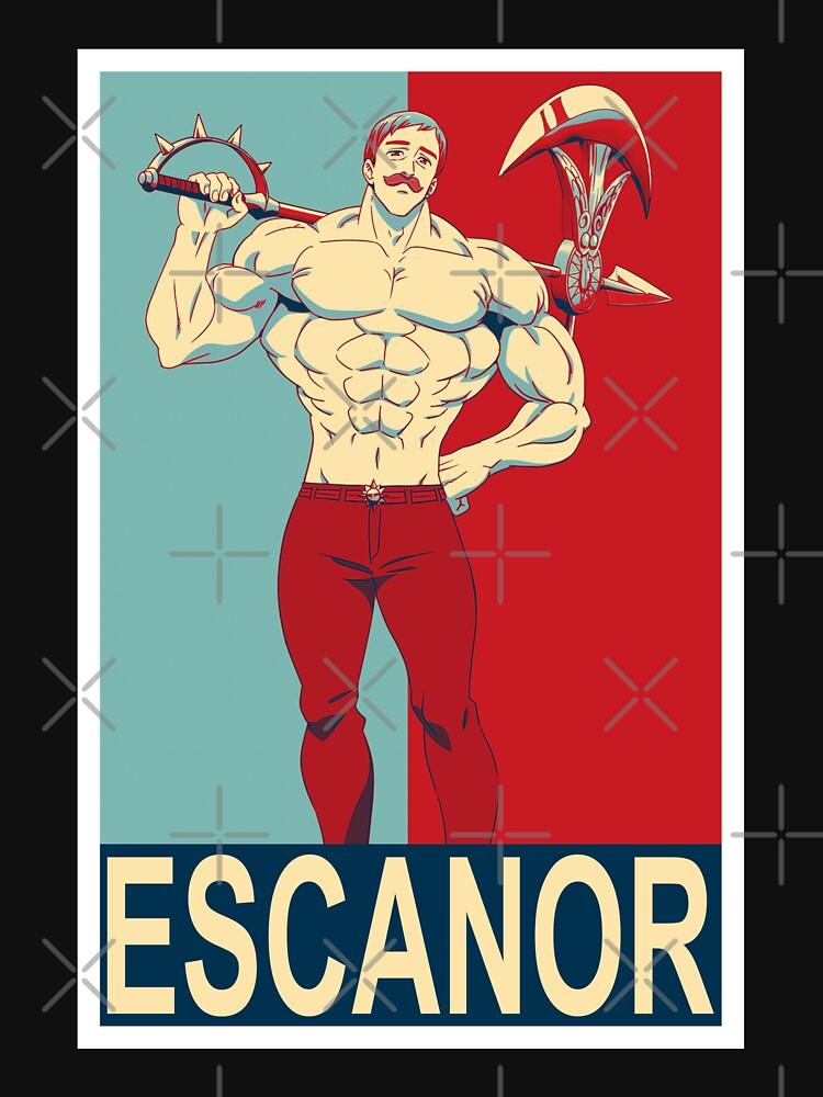 RedBubble: Retro Escanor Character Natsu Prints