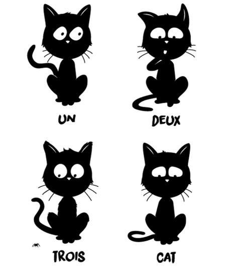 Qwertee: Un, deux, trois, cat