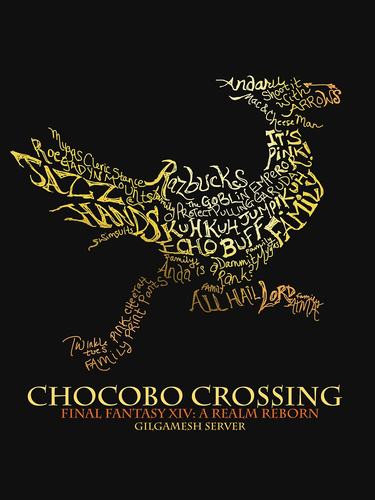 RedBubble: Chocobo Crossing shirt