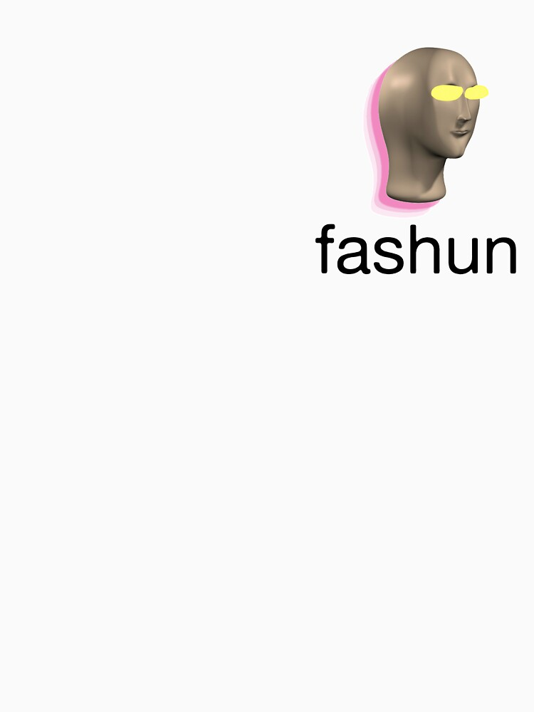 RedBubble: Fashun (Stonk meme inspired) Black Text / Medium Logo