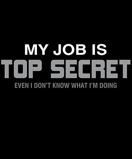 Qwertee: My Job is Top Secret