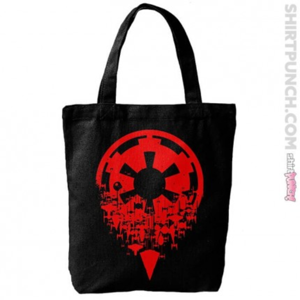 ShirtPunch: Red Fractured Empire Tote