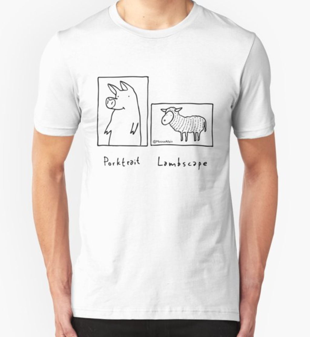 RedBubble: Porktrait