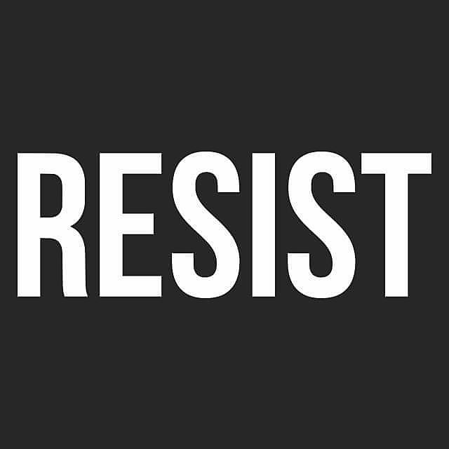Textual Tees: Resist