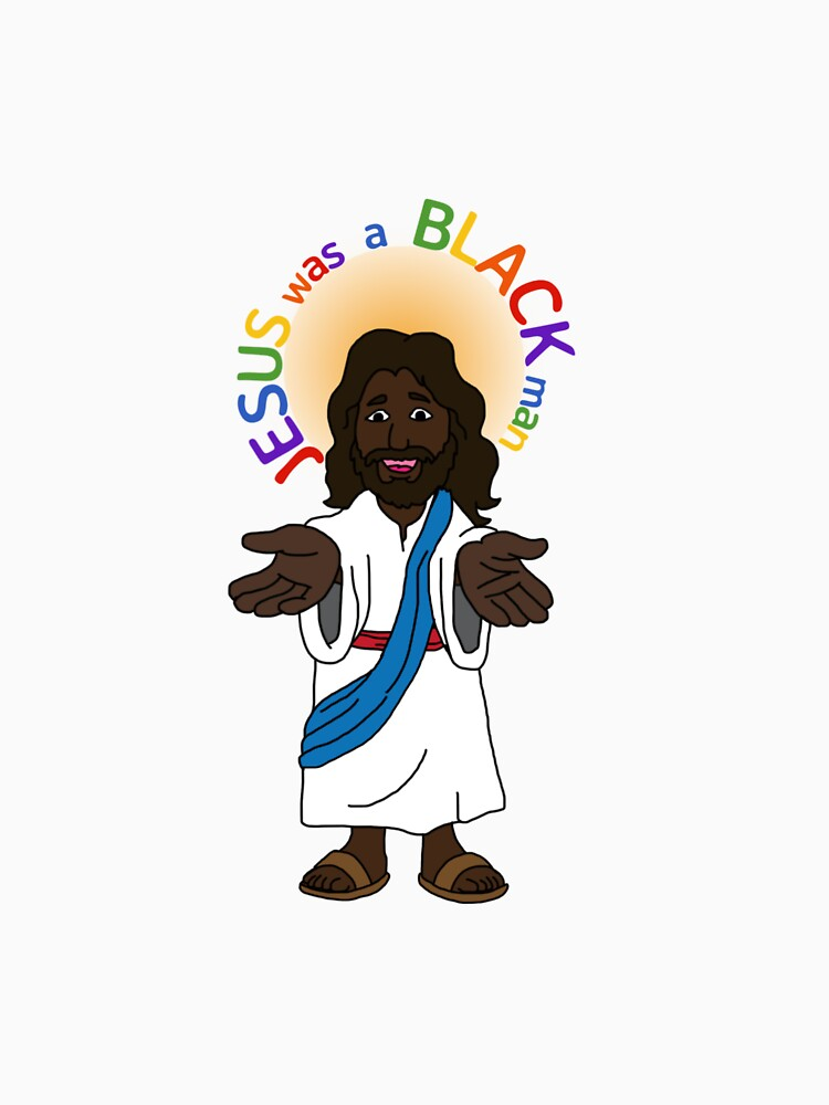 RedBubble: Jesus was a black man Rainbow