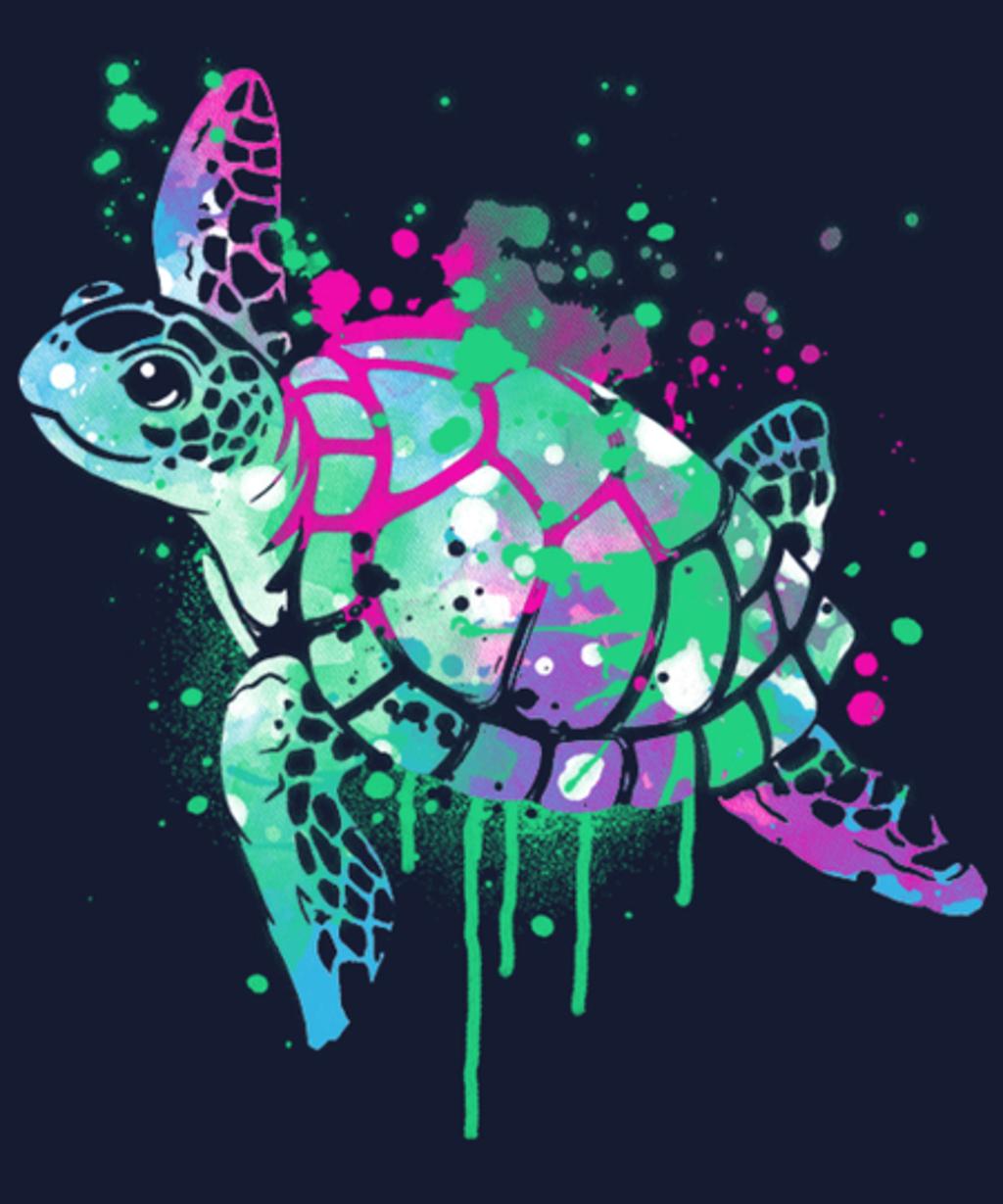 Qwertee: Fluo sea turtle