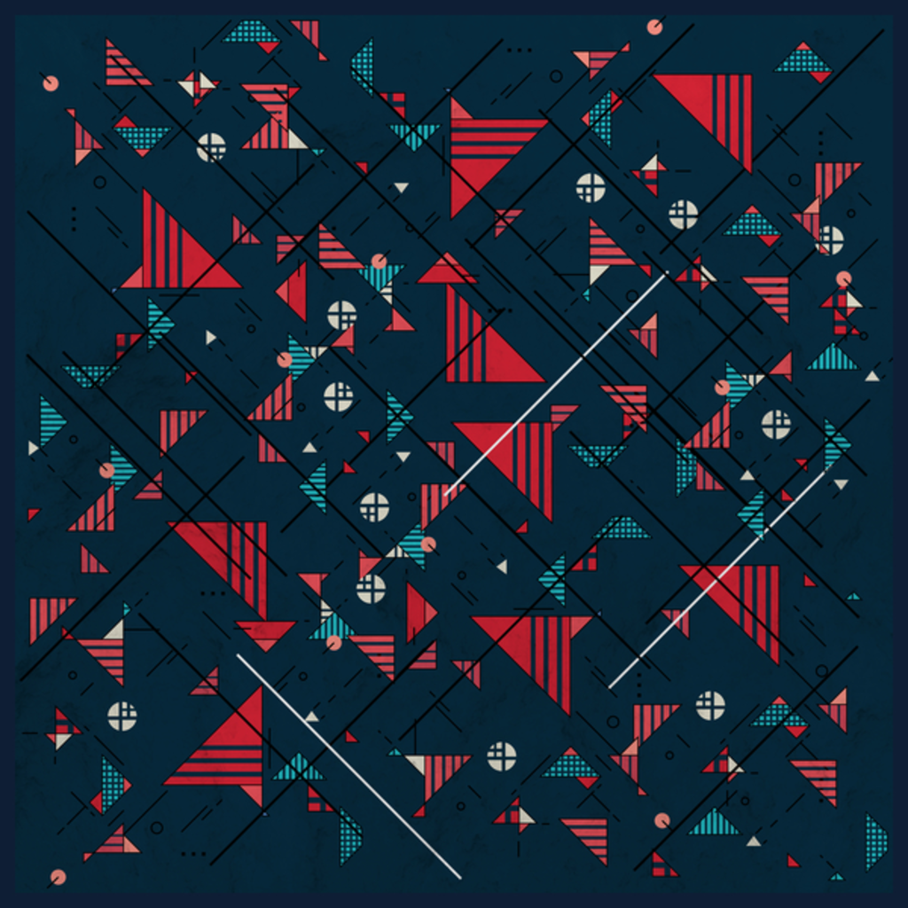 NeatoShop: Geometric Abstract Red Pattern
