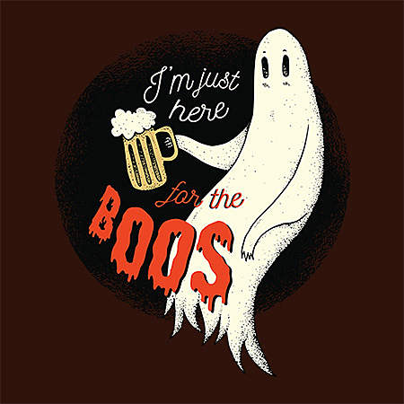 MeWicked: I'm Just Here for the Boos - Ghost with Beer Mug