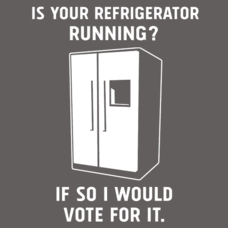 Textual Tees: Is Your Refrigerator Running?