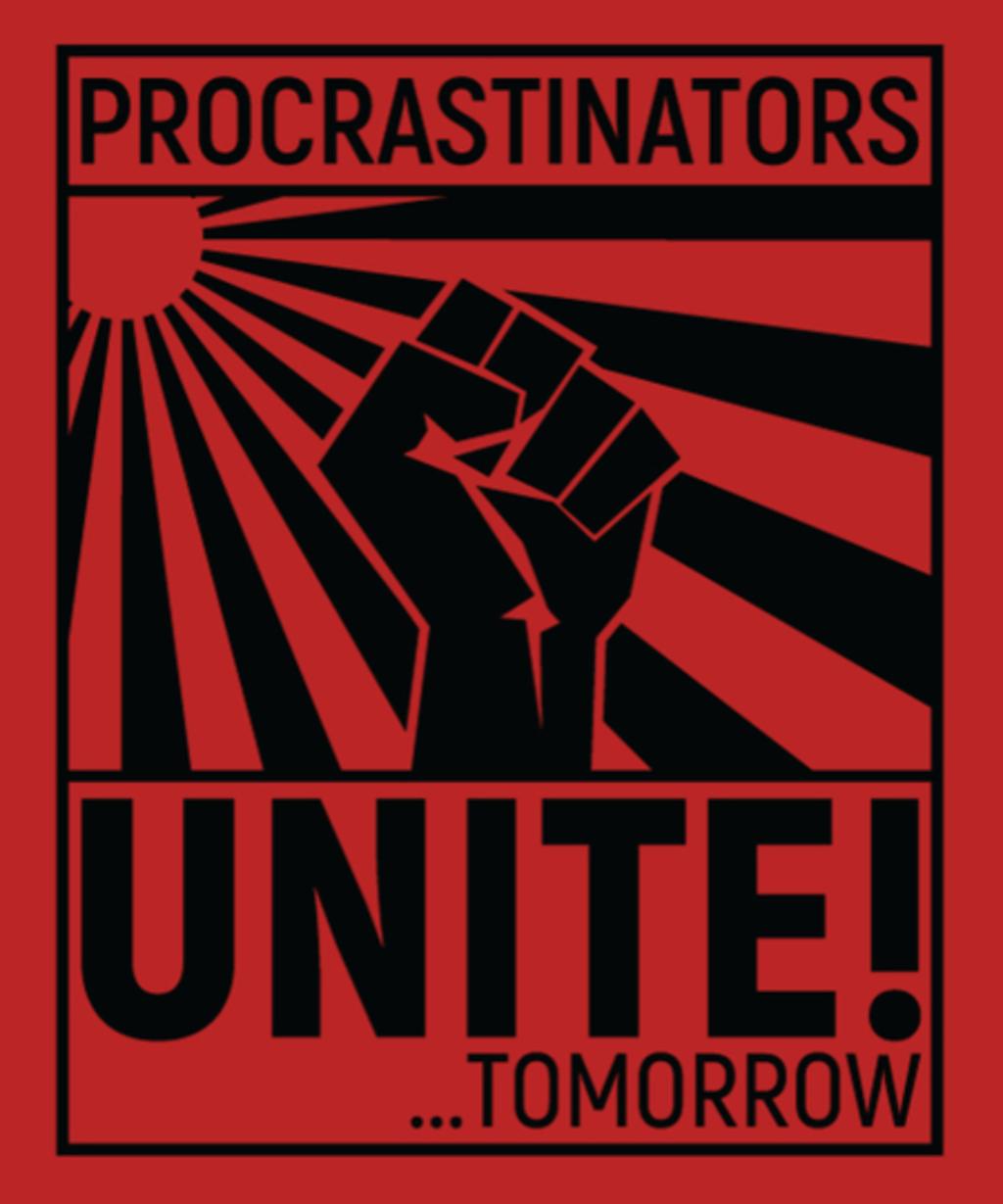 Qwertee: Procrastinators Unite!