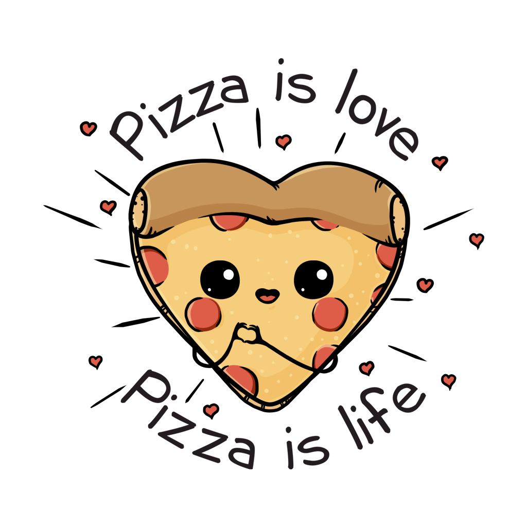 TeeTee: Pizza is love Pizza is life