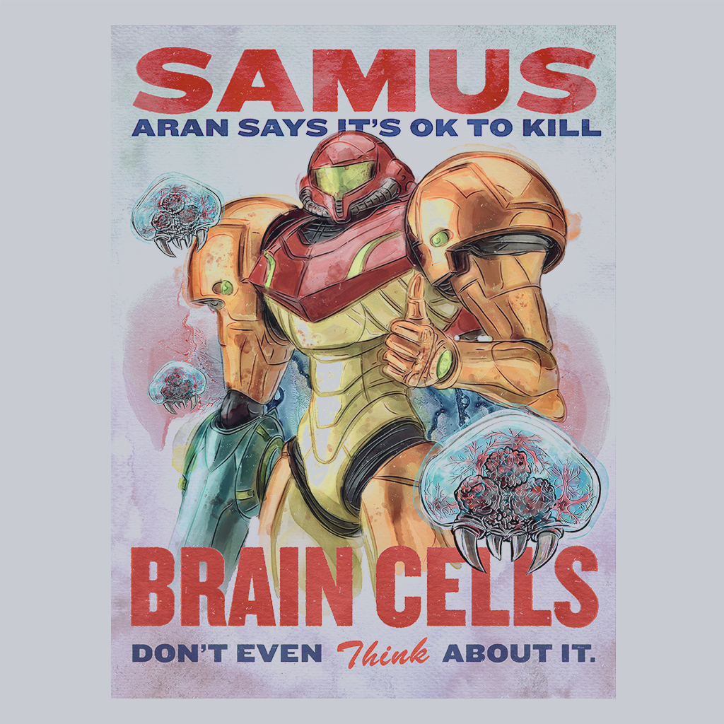 Pop-Up Tee: Samus Aran Propaganda