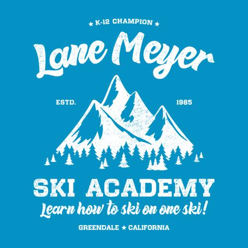 Five Finger Tees: Lane Meyer Ski Academy T-Shirt