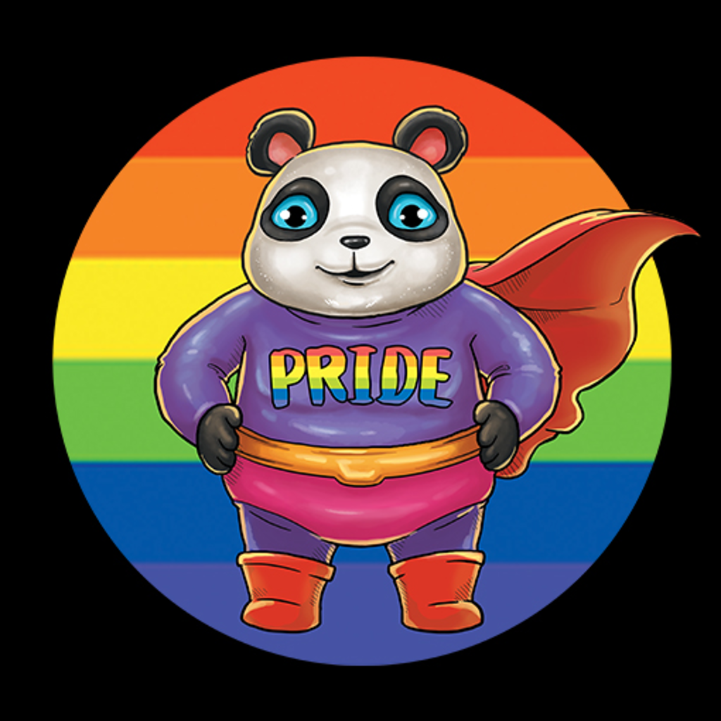MeWicked: Super Panda - LGBTQ+ Pride Month With Flag