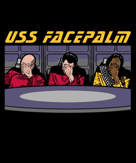 Qwertee: USS Facepalm
