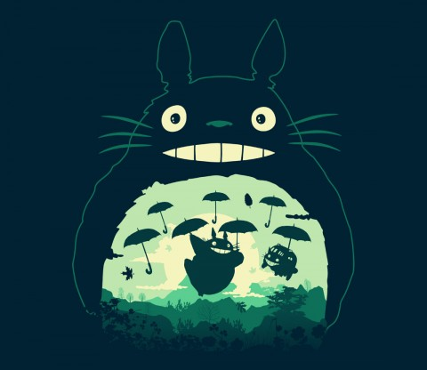 TeeFury: Totoro and His Umbrella