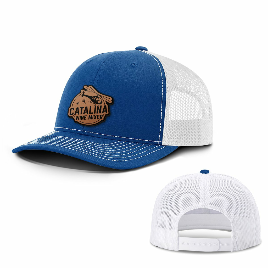 BustedTees: Catalina Wine Mixer Leather Patch Hats