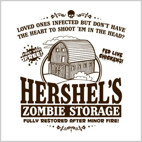 Five Finger Tees: Hershel's Zombie Storage T-Shirt